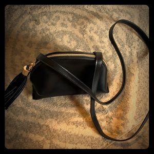 Forever 21 cross body black bag with tassel!